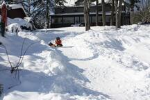 Winter Luge run!