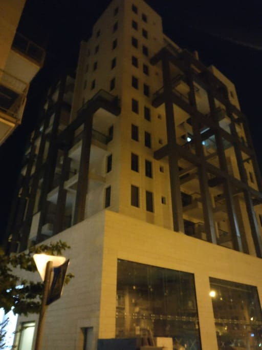 The newly built building, the apartment is on the 8th floor.