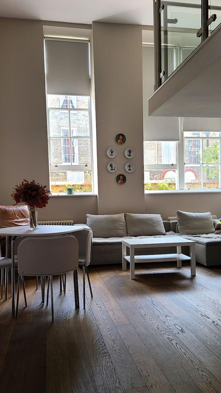 Beautiful converted flat with mezzanine bedroom