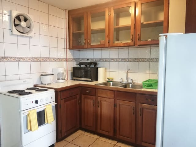 Apartment with full kitchen and balcony