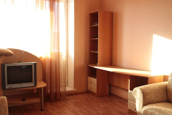 Light and cozy apartment near bus station - Tyumen' - Apartment