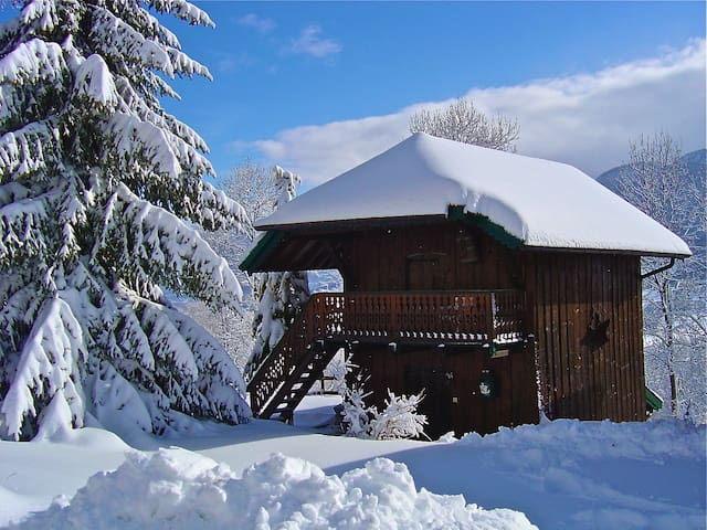 Joli chalet hauteurs d'Annecy - Leschaux - Dağ Evi