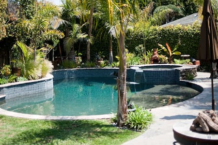 Our oasis.  Enjoy peace and tranquility in our very private and self contained guest house.  Lay out by the pool, take the bikes out for a short ride to the waters edge or a 3 minute walk to some of the area's best eateries.  A foodies paradise.