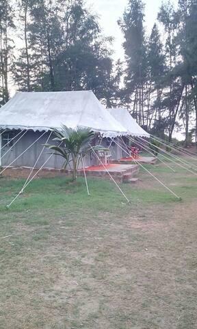 Swiss Cottage Tent surrounding