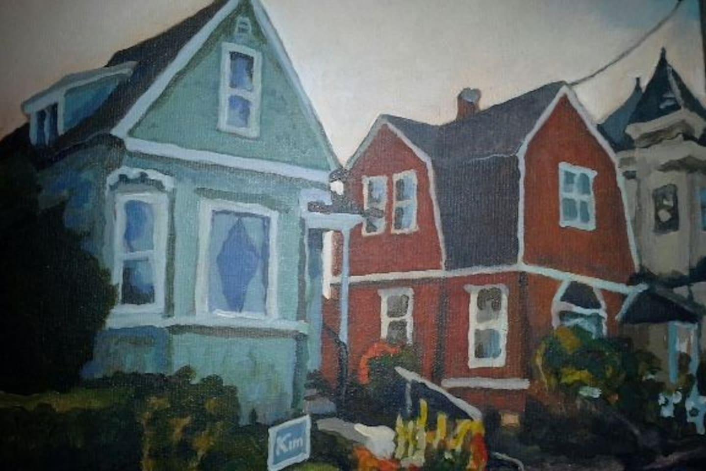 Lula's House - painting by Doug Freie