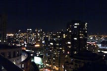 15. Night view from the balcony - 180 degree, 1-of-4 looking northeast.