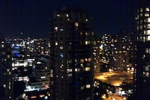 17.  Night view from the balcony - 180 degree, 3-of-4 looking southeast.