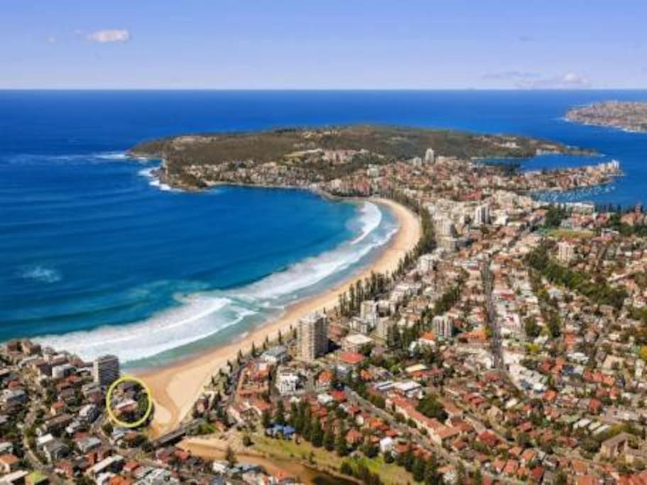 Manly Beach, Sydney. Our location!