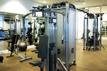 23. Enjoy the amenity facilities: large gym, yoga room and steam room.
