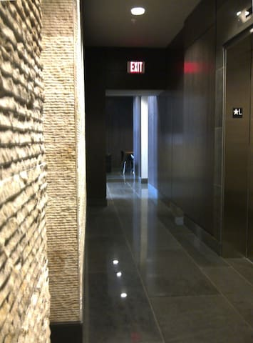 25.  Stylish elevator lobby.