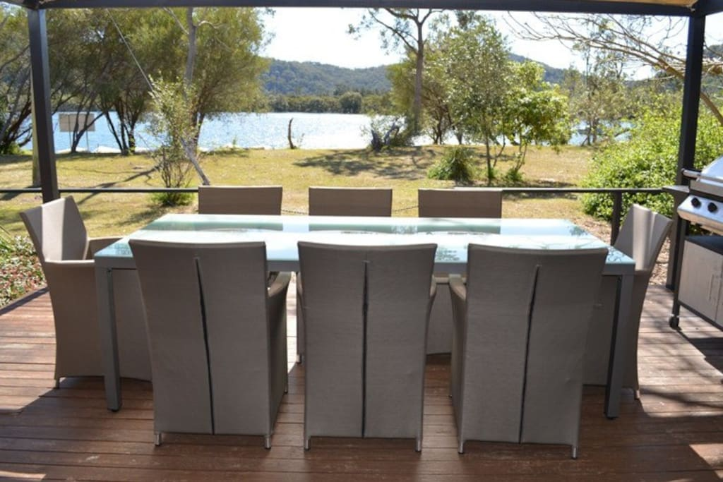 Our waterfront back deck overlooking Patonga Creek
