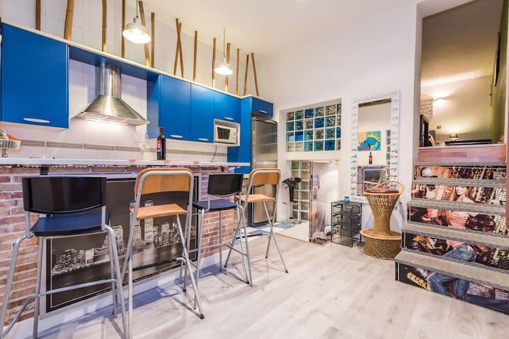 GRAN VIA TWO BEDROOM, WI FI, 6 PAX - Madrid - Appartement