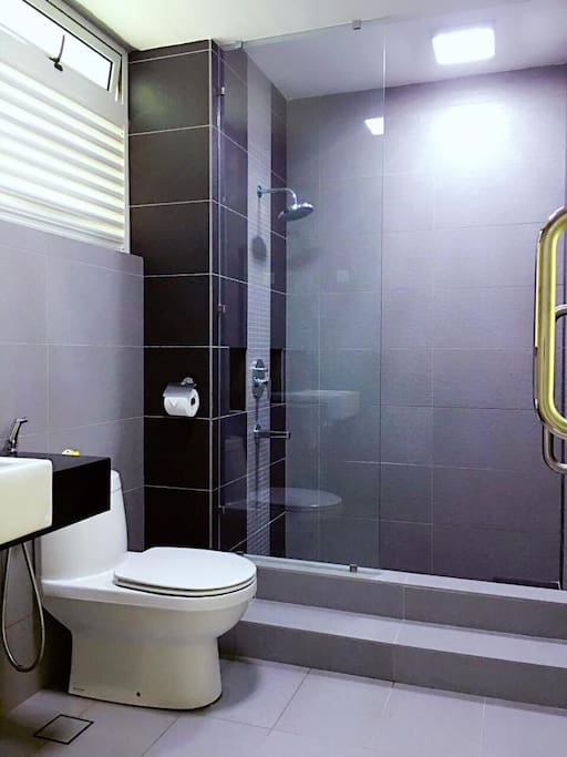 Bathroom with attached heater
