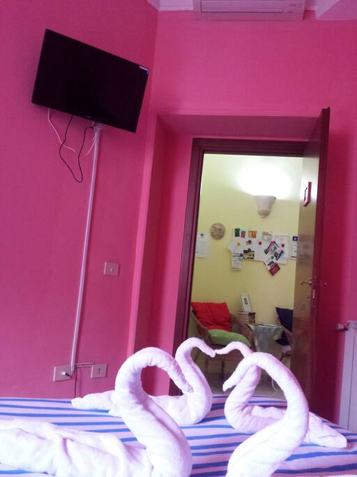 """Double room """"S. Pietro"""", Tv and entrance"""