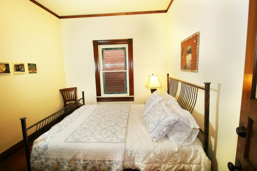 A view to the details and comfort of this second bedroom.