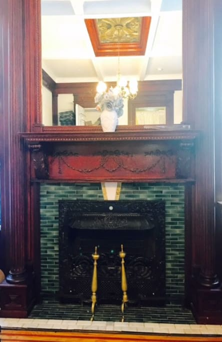 One of three non-working fire places.