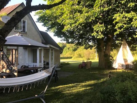 Nezabudnuteľná dovolenka na Gotlande neďaleko Visby.