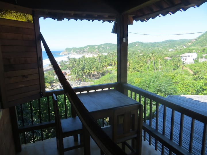 nice spacious room with balcony and ocean view