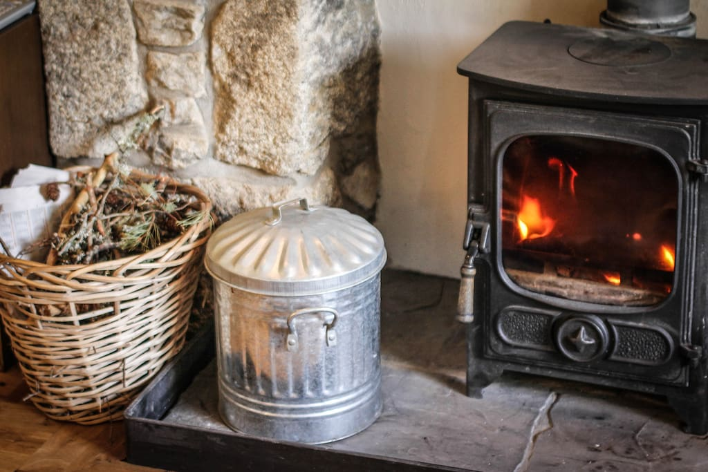 The cottage also has full biomass central heating so this is purely for romance rather than survival!