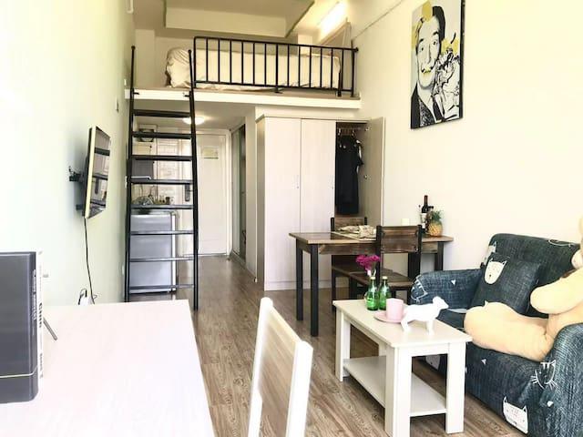 奉贤宝龙广场  上海商学院 清新风格 温馨独立公寓