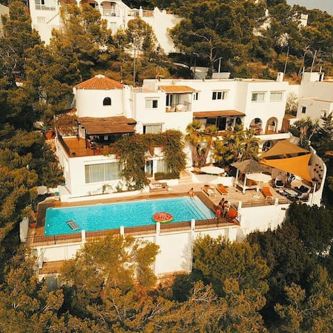 Family villa, Solyluna, stunning views, ibiza