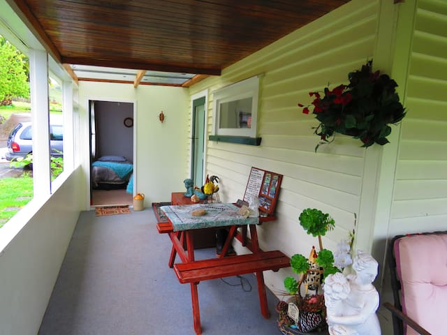 Veranda Entry Read, Relax and Check the Wi-Fi