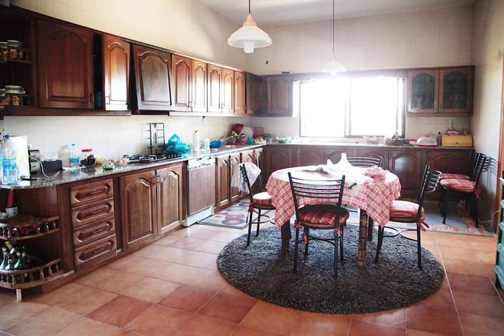 A large kitchen , a séjour includes open coffee and tea ; )