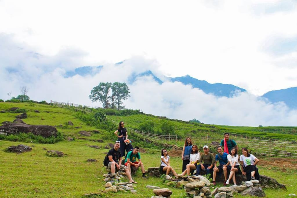 We're proud to say camping area which is next to the family house is one of the best location to catch sunrise and sunset, moreover, a fascinating milky way in Sapa at night.