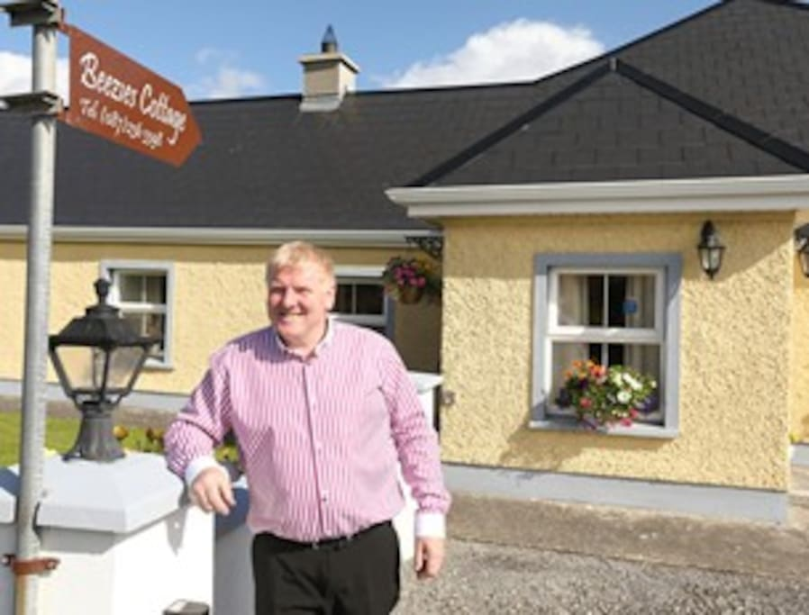 John Feighney ready to welcome you all at Beezies Accommodation Sligo