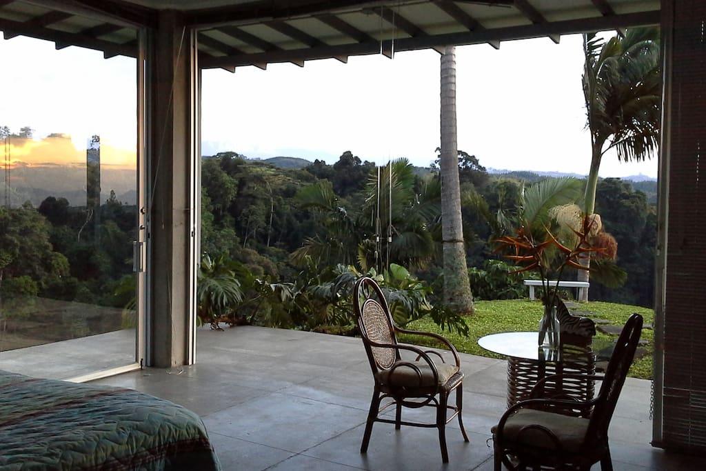 Balcón de la Habitación Principal... Te despertarás en medio de un espectacular cañón!!