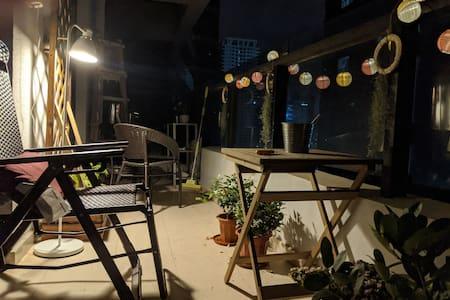 """Starlight and breeze"" open balcony apartment"