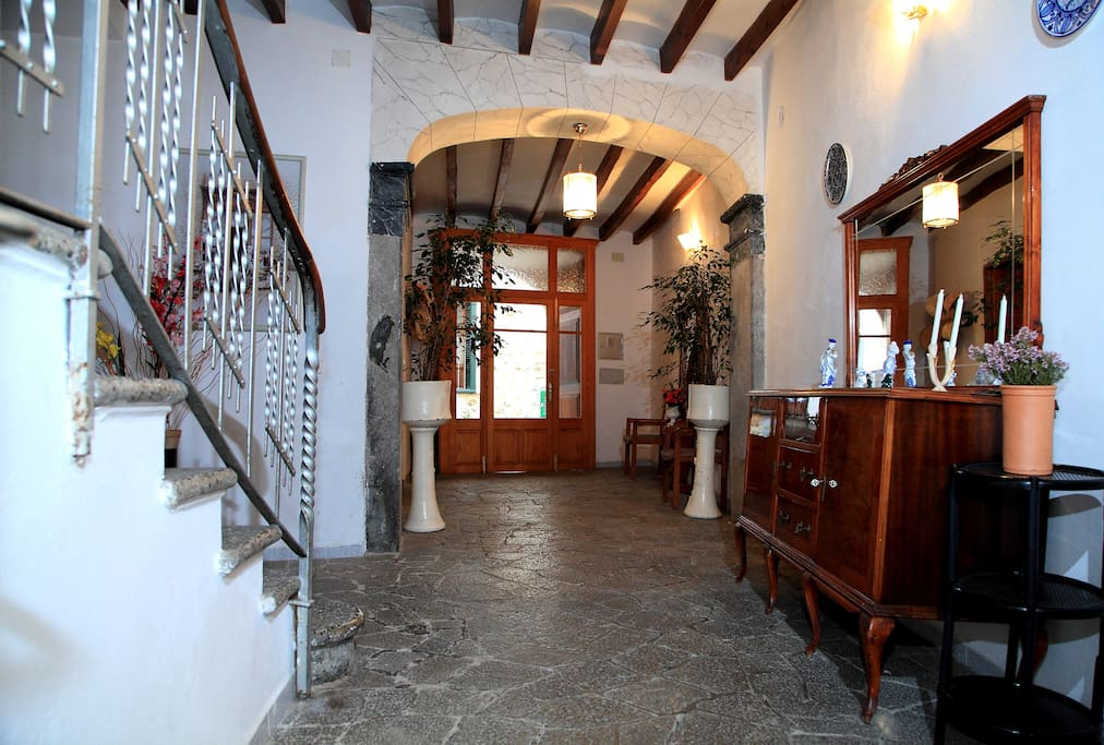 Interior of the entrance