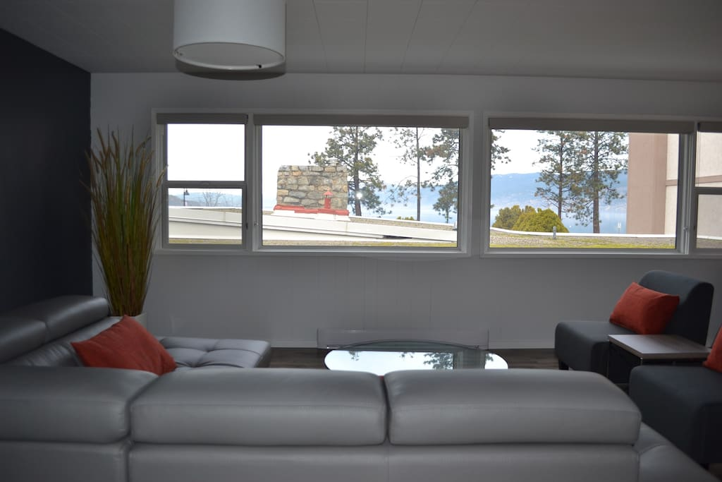 Enjoy a glass of wine or read a book while you enjoy the view of Lake Okanagan!