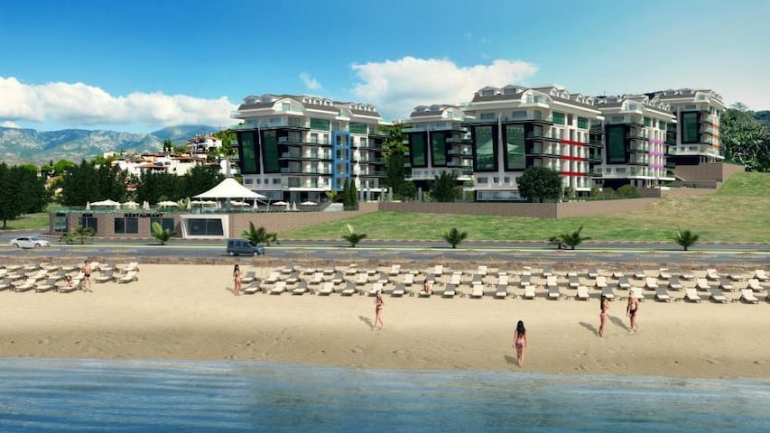 Konak Beach Luxury Apartment - Kargicak - Haus