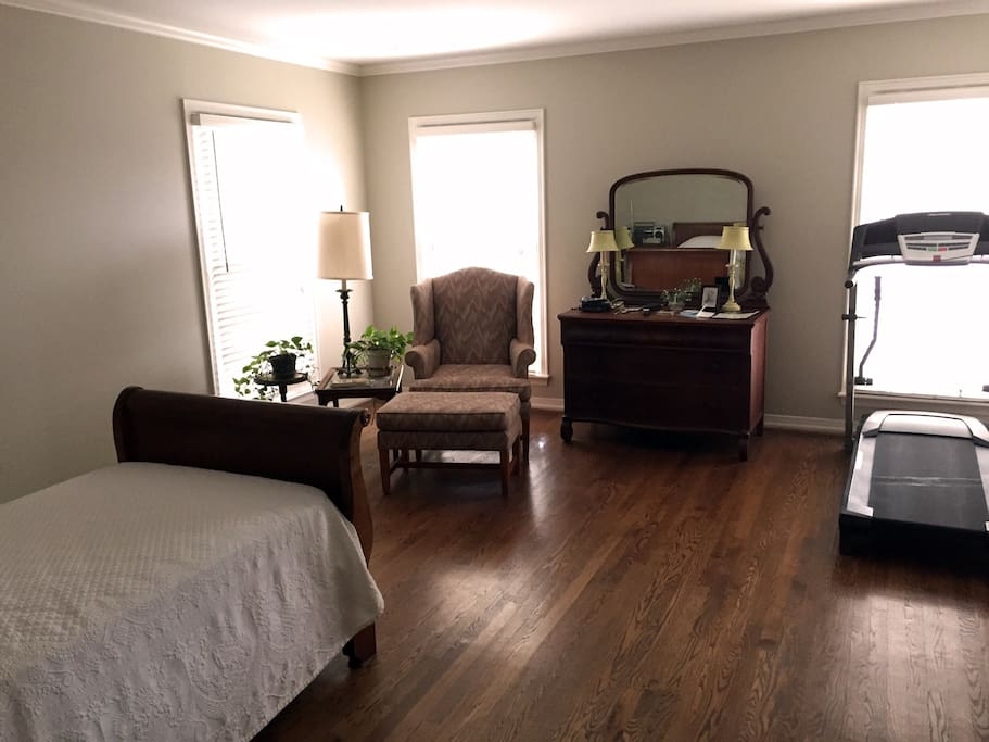 Bedroom 2, with handicapped-equipped bathrom and shower.
