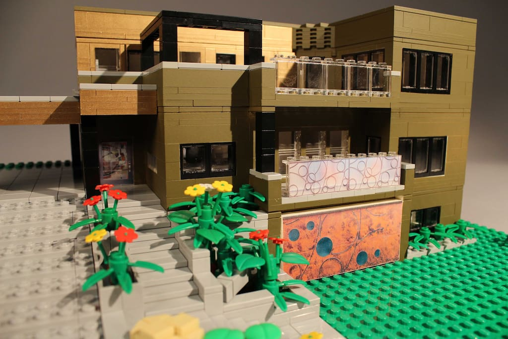 Why we call it the Lego house. Scaled model by island legend Carlyle Livingston, II.