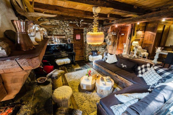 Chambre Edelweiss de 2 à 4 pers - Séez - Bed & Breakfast