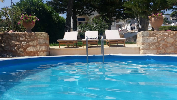 Apt in Villa Oceano - terrace sea view -with pool