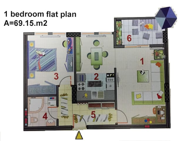 1 bedroom flat to rent- monthly