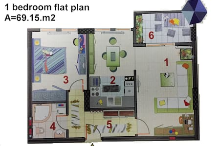 1 bedroom flat to rent- monthly