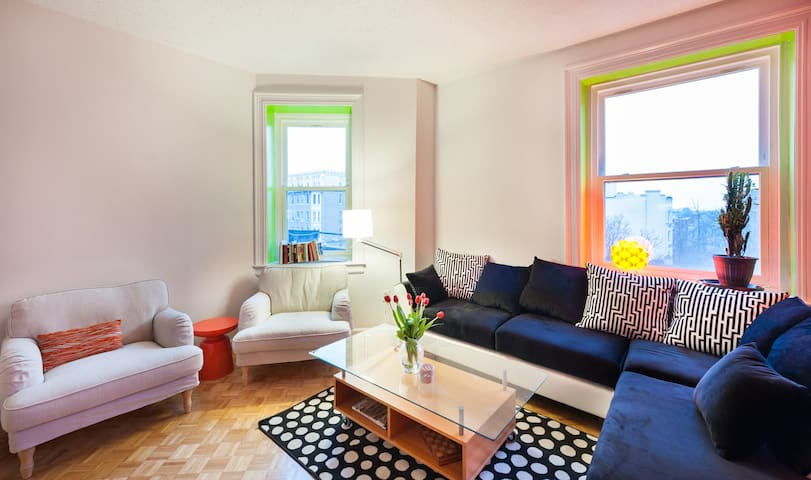 Sunny Large 1 Bedroom with Patio in Adams Morgan