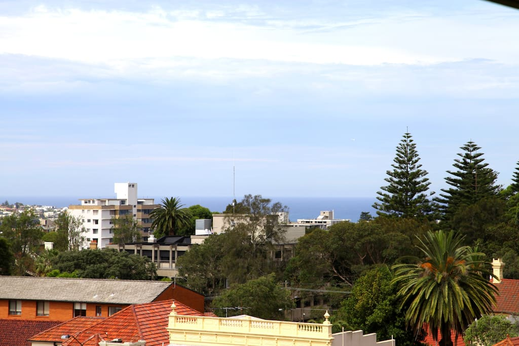 View to the East from balcony - Bondi Beach is a short 20 minute walk