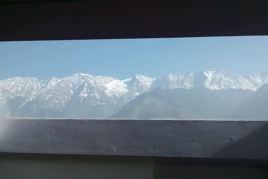 View of the Dhauladhar Range