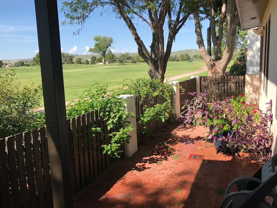 Back Porch Looking at Golf Cource