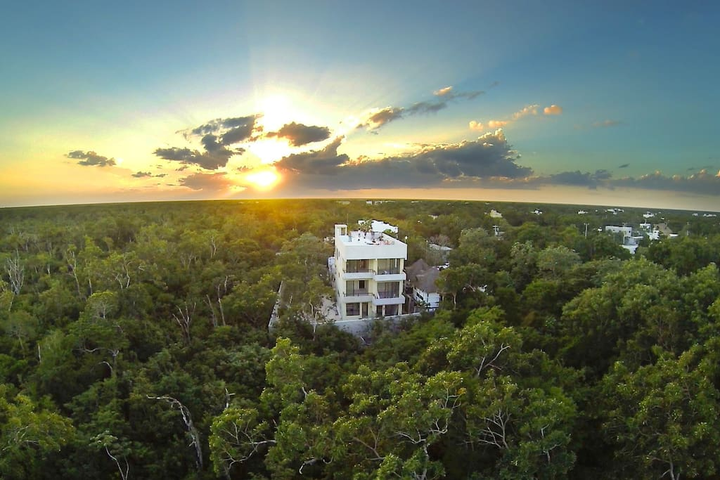 Our location is spectacular! just 5 minute to town and 20 minutes to the beach and ruins. Close to all the attractions of tulum.