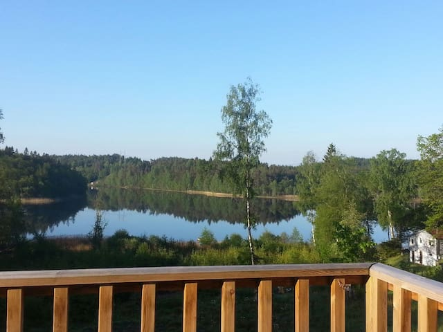 New villa on the lake, great view