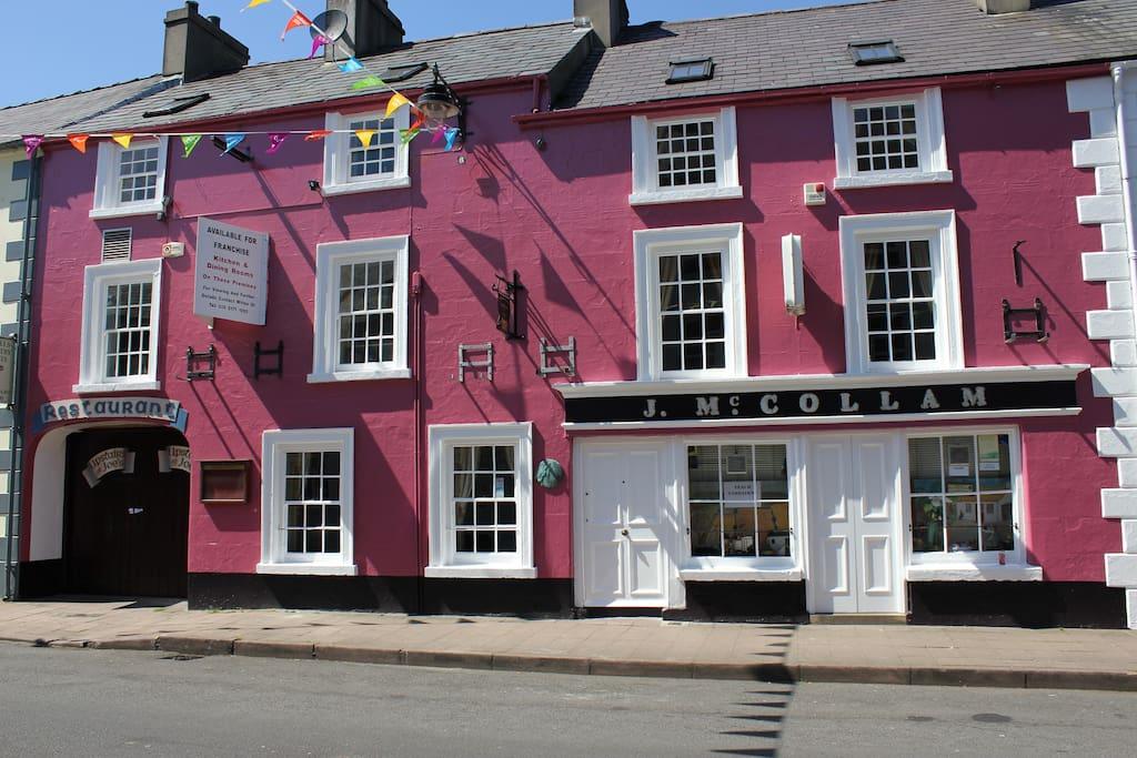 Award winning traditional Irish music pub across the street