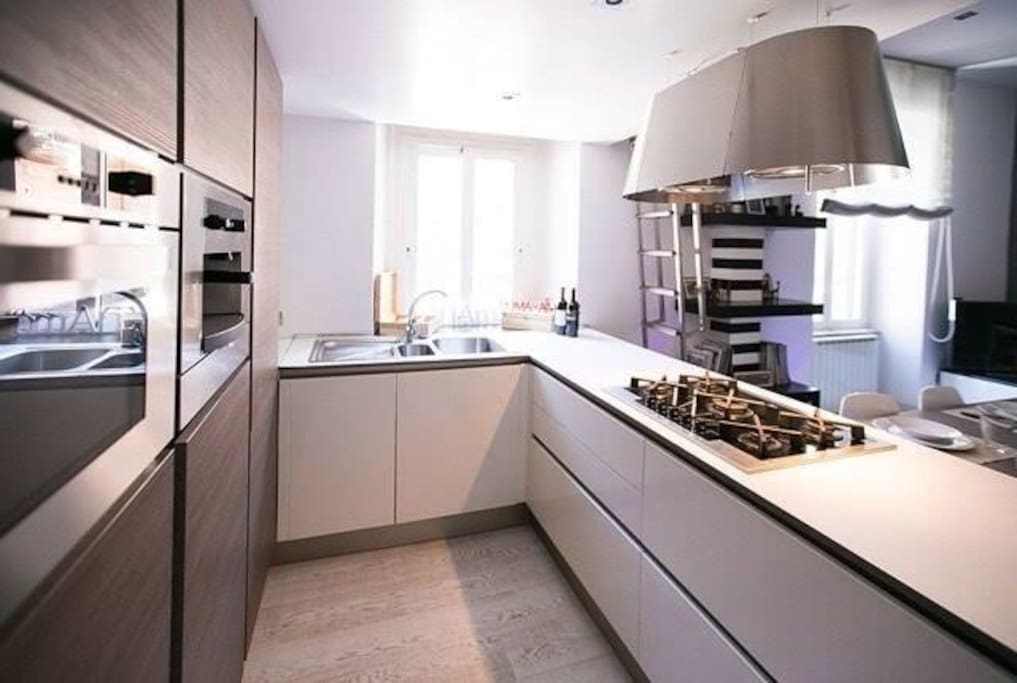 Focus cooking area in the living