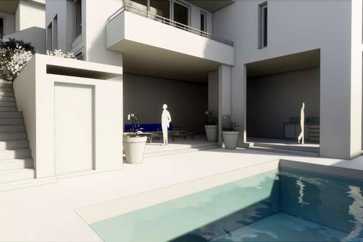 Stunning PoolApart with pool view & large garden