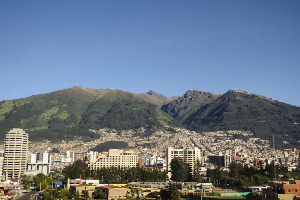 Unobstructed Views of Pichincha Volcano (4784m)